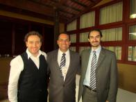 Com Eduardo Carmello e Tom Coelho