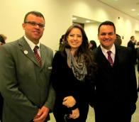 Com Cristiano Silva (Bourbon) e Regiane Pinheiro