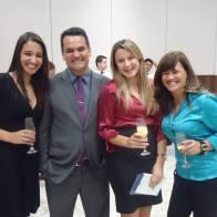 Com Carla, Tatiani e Ana