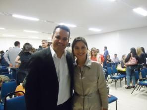 Com Tatiani Godoi da Villares Metals