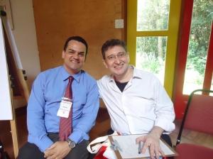 O Editor do Blog André Mancuso com  o Prof. Claudio Queiroz
