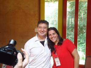 O Palestrante com Janaína Silva (Fagor Ederlan)