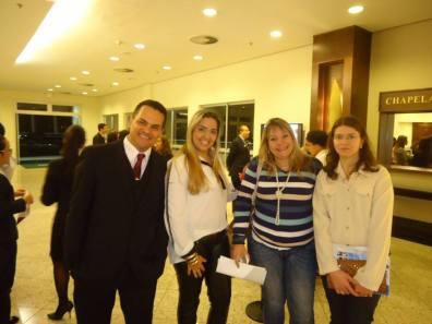 André, Camila (hotel Atibaia Residence) com Márcia do IDAPE