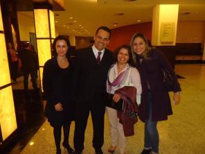 André com Caroline e Regiane (RM Rh) e Haidê (FAAT)