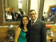 Fabiana - SESMED com Cristiano