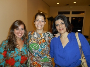 Daiane (Bourbon) com Carla Morenno (Folha Mulher)