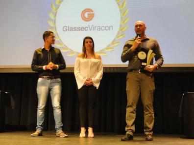 Wagner e equipe da Glassec Viracon