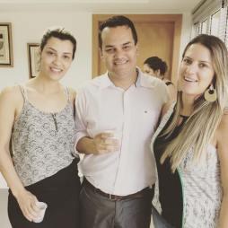 Cristina e Raiza da Fênix RH com André Mancuso