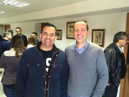 O presidente Andre Mancuso e o vice Marcos Soares