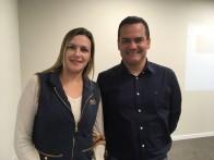 Roberta Lopes da Amvian com Mancuso
