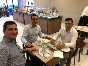 Angel Souza, Anderson Santos e Gilvan Elias da FAAT