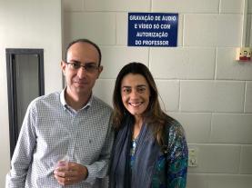 Marcelo Chizolinni da Farmina Pet Foods com Paula Cruz da Codex RH
