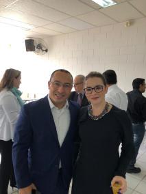 Doutor André Bio com Manuele Fontes da UNIFAAT