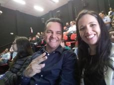 André e Gabriela, diretoria do AGRUPARH