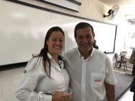 Paula com Irineu do SENAI