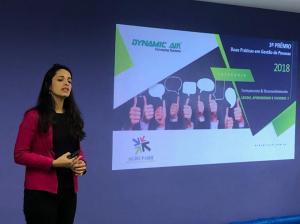 Gabriela Leite apresentou o case vencedor em T&D